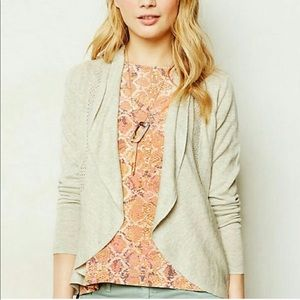 ANTHROPOLOGIE angel of the north scallop cardigan